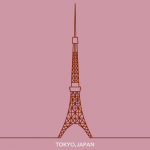 Straight line of tokyo