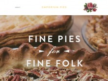 Good inspiration web design of the day:『EMPORIUM PIES』