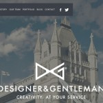 Good inspiration web design of the day:『DESIGNER & GENTLEMAN』