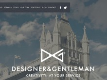 Good inspiration web design of the day:『DESIGNER & GENTLEMAN』