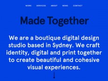 Good inspiration web design of the day:『Made Together』